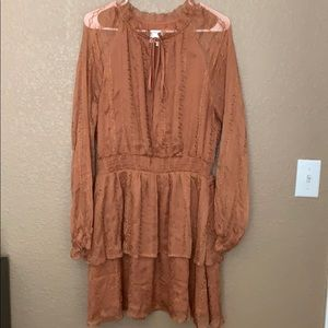 Burnt Orange lace dress